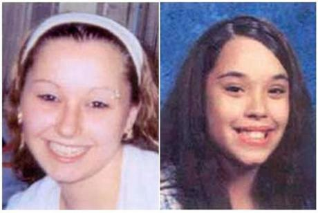 Amanda Marie Berry (left) and Georgina Lynn Dejesus are pictured in this photograph in undated photos released by the FBI.