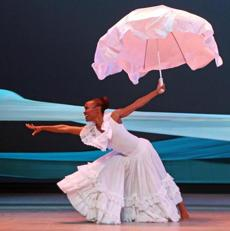 "Renee Robinson, dancing in Alvin Ailey's ""Revelations"" in New York last year, joined the troupe in 1981, the last dancer picked by Ailey."