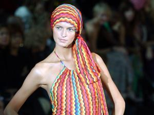 A model wears one of the creations by Ottavio and Rosita Missoni in 2003.
