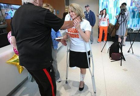 Sdoia was released from Spaulding Rehabilitation Hospital Tuesday.