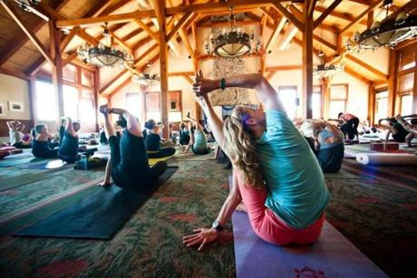 Yoga and other serene activities at the Wanderlust Festival in Vermont.