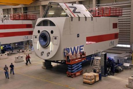 Turbine housing components in Bremerhaven were near completion.