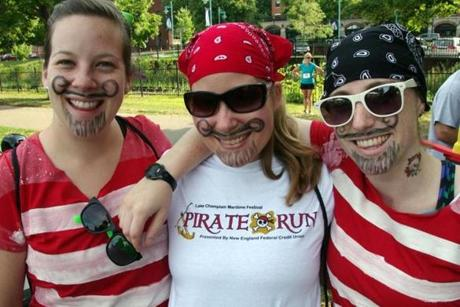 Pirate garb is welcome at the Lake Champlain Maritime Festival.