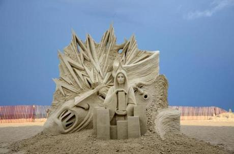 The work of a master carver at the annual sand sculpting competition on New Hampshire's Hampton Beach.