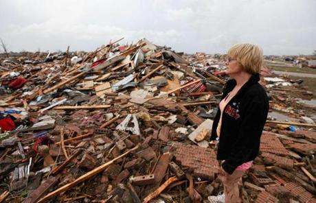 Kim Schwab looked at her destroyed home in south Oklahoma City.