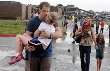 Briarwood Elementary School in south Oklahoma City was also damaged, and people there were injured.
