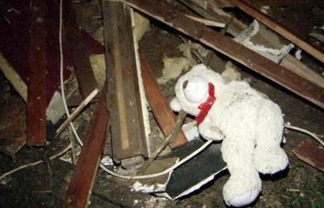 A stuffed bear amid the rubble in Moore after a massive tornado leveld parts of the town on Monday.