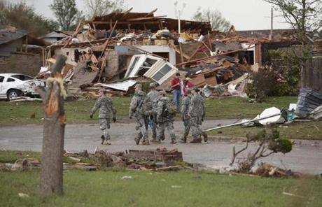 Governor Mary Fallin said authorities did not know how many people were still miss