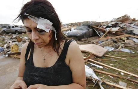 Cindy Wilson texted friends on Monday after her home was destroyed by a massive tornado.