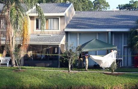 The scene of the fatal shooting in Orlando where Ibragim Todashev was shot and killed.