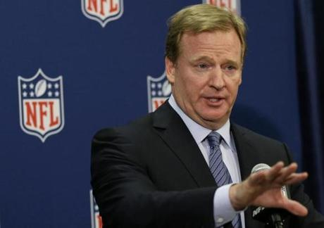 NFL commissioner Roger Goodell awarded Super Bowls to San Francisco and Houston on Tuesday in Boston.