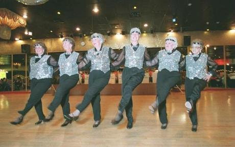 The Bridgettes-Geritol Cuties Tap Dancers performed at a fund-raiser and self-esteem booster for the elderly.