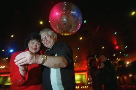 Mary-Jean Distefano with her father Joseph Distefano waltzed on the dance floor. The elder Distefano had bought the facility in 1994.