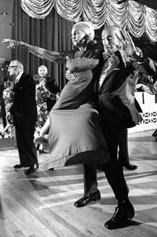 The dance floors were once crowded with waltzing couples in suits and full skirts, like Nathan and Beatrice Ginsburt of Revere, seen in this 1974 image.