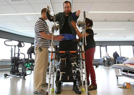 William Lautzenheiser, who lost his limbs due to an infection, said he is considering a transplant of arms and possibly in the future his legs.