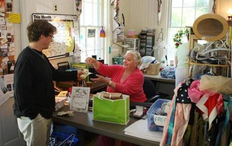 Donna Pihl, a volunteer at the First Parish Brewster Thrift, said business had not slowed since Friday.