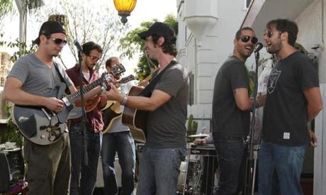 Joshua Bond (right), a property manager at Bulger's building, performed with his country band in Venice Beach. Bond would eventually help the FBI lure Bulger outside of his apartment by telling him his storage locker in the garage had been broken into. Bond said Bulger liked his music and never complained when he and his bandmates played late into the night.