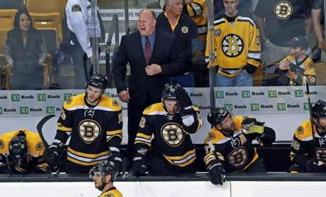 The Bruins overcame a penalty for too many men on the ice, which displeased coach Claude Julien, in the second overtime.