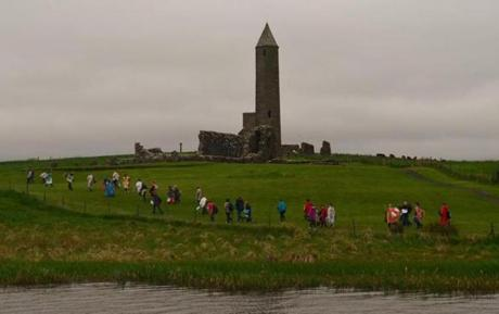 Devenish Island with its 6th Century round tower.