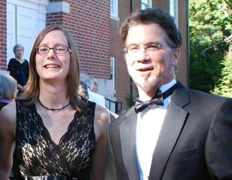 Composer Sky Macklay (left, with music director Jonathan McPhee) and the Lexington Symphony, won an ASCAP award.