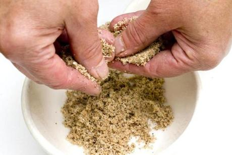 TIP: Use fingers to break up brown sugar clumps before adding the coffee and spices to your rub.