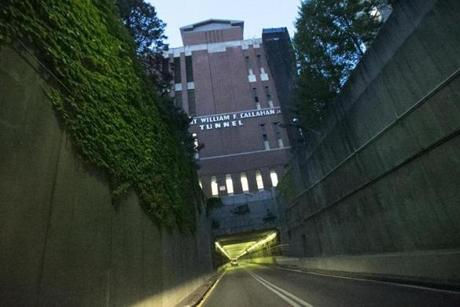 State officials opted not to allow one lane of traffic in the two-lane, one-way Callahan Tunnel in order to speed up the reconstruction work.