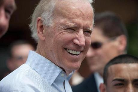 Vice President Joe Biden joined Democrat Edward Markey on Saturday for campaign rallies in Markey's bid to be elected to the US Senate.