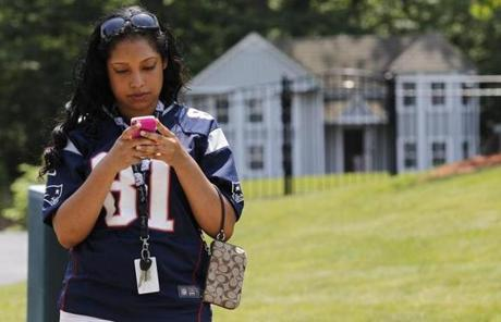Maria Grullon, 19, of Worcester drove to North Attleborough to see Hernandez's home.