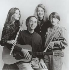 Sommers-Rosenthal Family Band in 1993: Naomi (left) and Beth Sommers, Phil (left) and Daniel Rosenthal.
