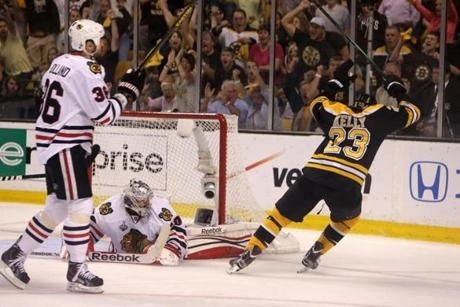 Chris Kelly had put the Bruins on the board first with a goal in the first period.