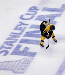 The loss was tough on Patrice Bergeron, who doubled over on the ice after playing through a broken rib, torn cartilage, and a separated shoulder in Game 6.