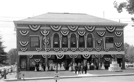 The Town Hall was decked out in bunting in 1963.