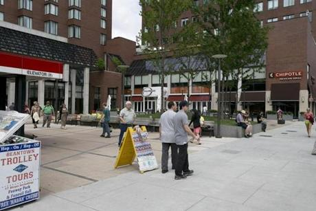 """It's going to be the Kendall Square lifestyle at half the price,"" Bush said. Kendall Square is pictured here."