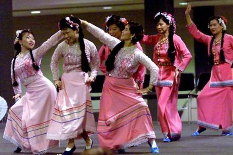 Members of the Greater Boston Chinese Cultural Association danced at the Hynes Convention Center.