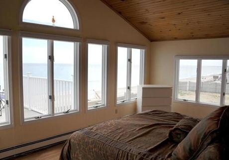 The second-floor master suite has breathtaking views.