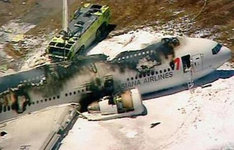Two people are dead after an airliner arriving from Seoul, South Korea, crashed while landing.