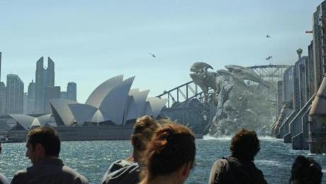 "Caption: A Kaiju attacks Sydney Harbour in a scene from the sci-fi action adventure ""Warner Bros. Pictures and Legendary Pictures Pacific Rim,"" a Warner Bros. Pictures release."
