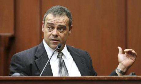 Sanford police officer Chris Serino testified for the defense on Monday.