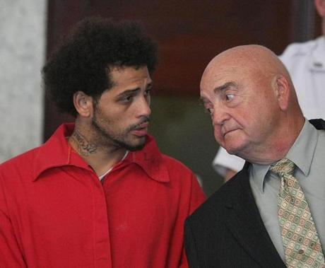 Carlos Ortiz (left) faces a weapons charge in the Odin Lloyd slaying.