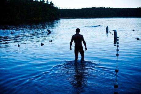 Photo essay of Walden Pond swimmers in early morning