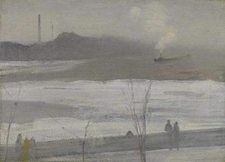 "James McNeill Whistler's ""Chelsea in Ice,"" completed in 1864."