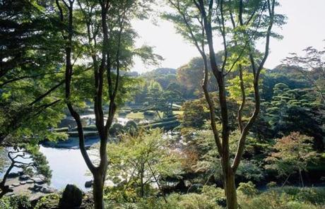 The East Garden of the Imperial Palace in Tokyo.