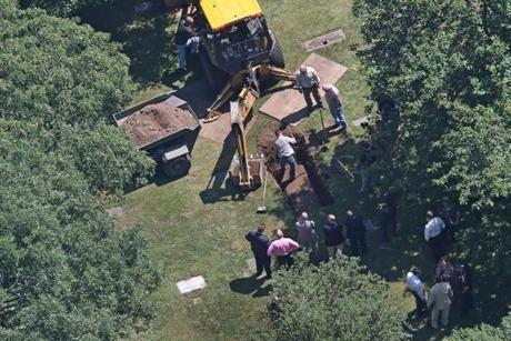 The remains of Albert DeSalvo were exhumed Friday from the Puritan Lawn Memorial Park cemetery in Peabody.
