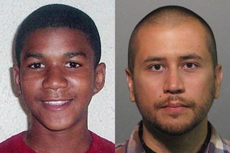 Trayvon Martin (left) was fatally shot in Sanford, Fla., in February 2012. George Zimmerman asserted self-defense.
