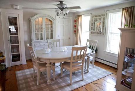 The Formal Dining Room Has Built In Cabinets
