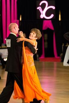 Bette Bissonnette and professional partner, George Lacerte at the Yankee Classic competition last month.