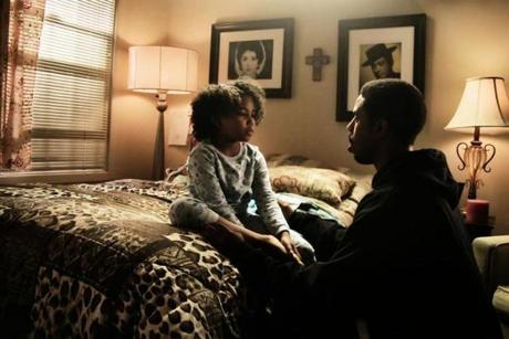 Michael B. Jordan portrays Oscar Grant and Ariana Neal plays his daughter, Tatiana.