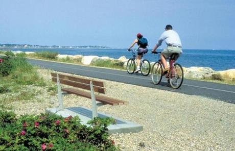 The Shining Sea Bikeway runs 10-plus miles between Woods Hole North Falmouth along the Cape's west coast.