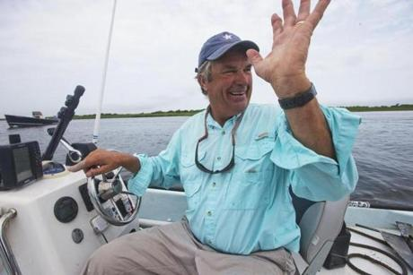 Tom Mleczko of Captain Tom's Charters says he has to travel farther to find fish because of the gray seals.