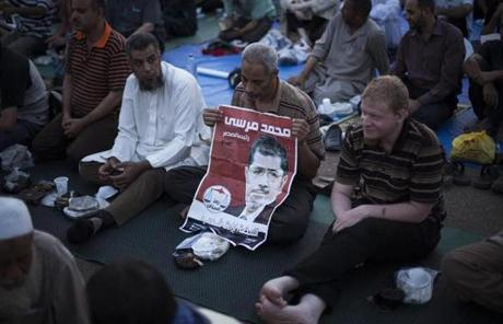 The bloodshed has dashed hopes of reconciliation between Egypt's two camps, sharply divided over Morsi's ouster earlier this month.